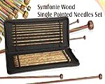 Knit Pro SYMFONIE Straight Single Point Needle Set 10""
