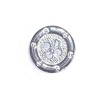 DILL Button 240950 -15mm - metal silver