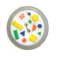 DILL Button 241043 - 18mm - White- Multi