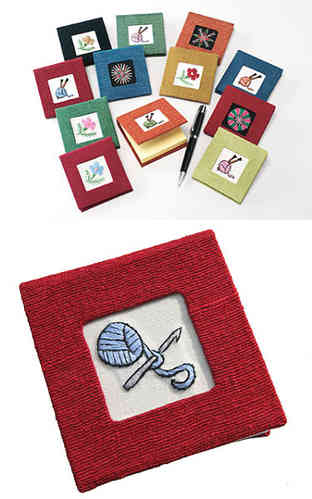 Lantern Moon Note Pad Holder - Knitting
