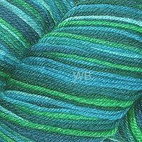 Cascade Heritage Silk Paint - Teal Mix No. 9809 - 100gr.