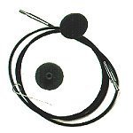 Knit Pro Interchangeable Needles Cables - Black