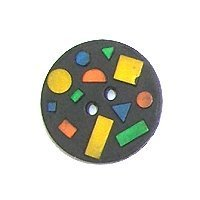 DILL Button 241044 - 18mm - Black Coloured