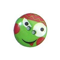 DILL Button 221806 - 13mm - Green-Smiley