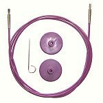 Knit Pro Interchangeable Needles Cables - Purple
